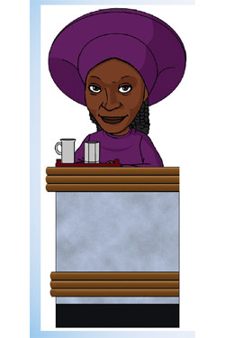 Star Trek TNG Bobble Head Build-a-10-Forward #1 Guinan 18 cm