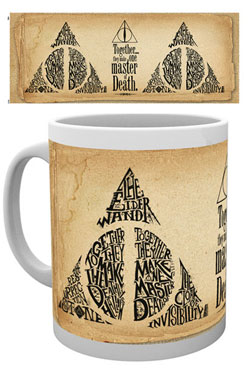 Harry Potter mug Deathly Hallows Words