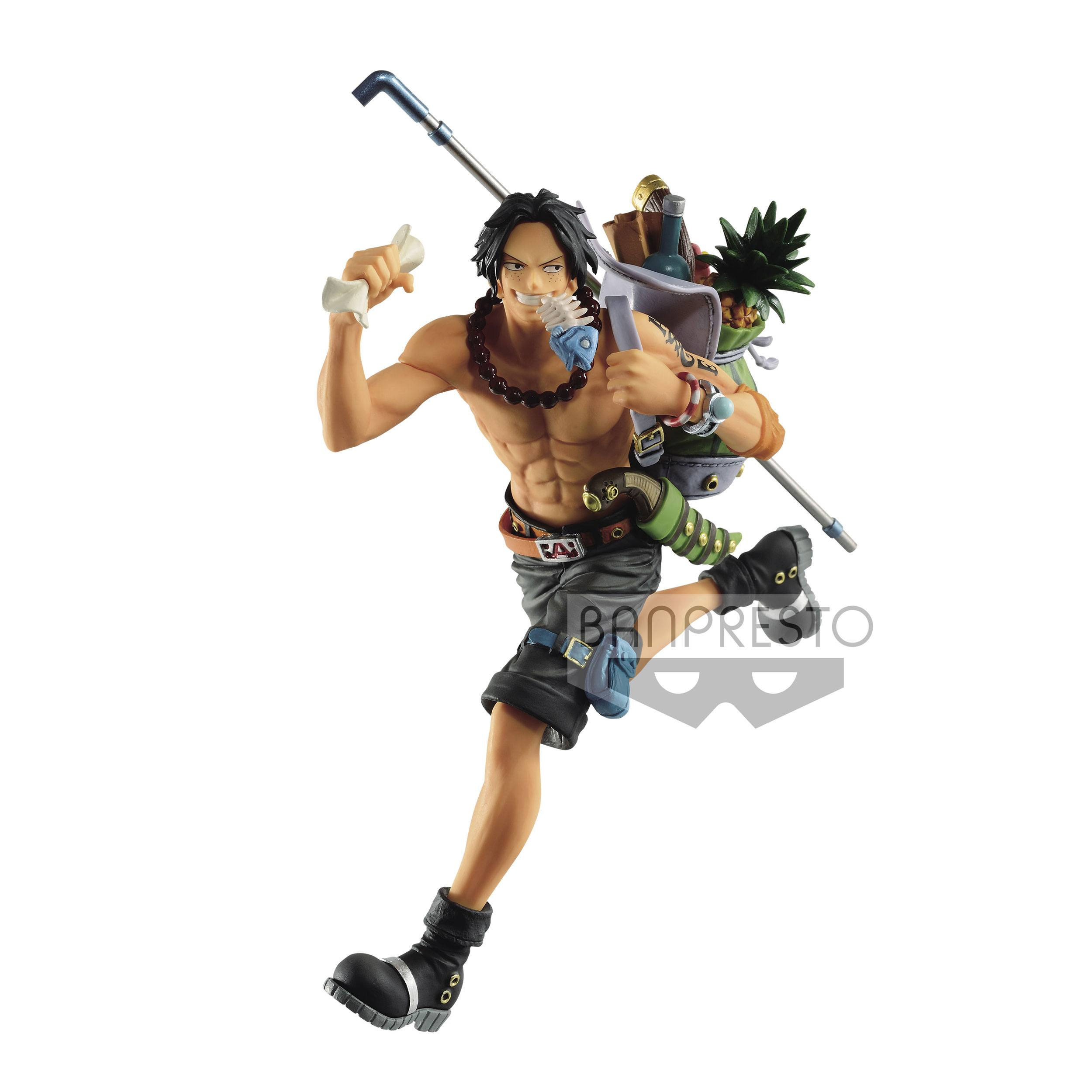 One Piece statuette PVC Three Brothers Portgas D. Ace 14 cm