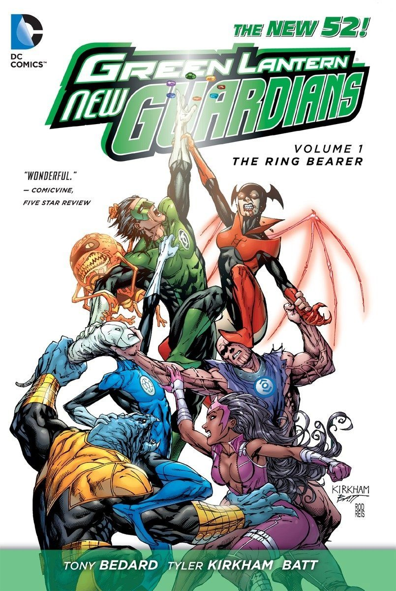 DC Comics bande dessinée Green Lantern New Guardians Vol. 1 Ring Bearer by Antony Bedard *ANGLAIS*