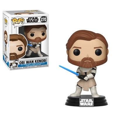 Star Wars Clone Wars POP! Vinyl Bobble Head Obi Wan Kenobi 9 cm