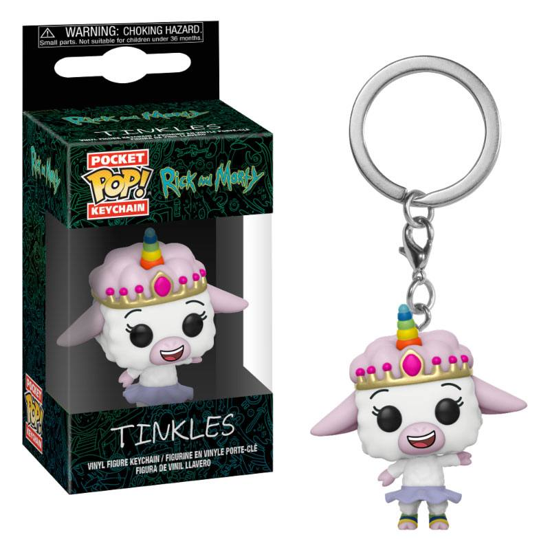 Rick et Morty porte-clés Pocket POP! Vinyl Tinkles 4 cm