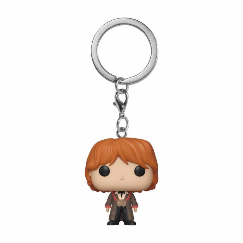 Harry Potter porte-clés Pocket POP! Vinyl Ron (Yule) 4 cm
