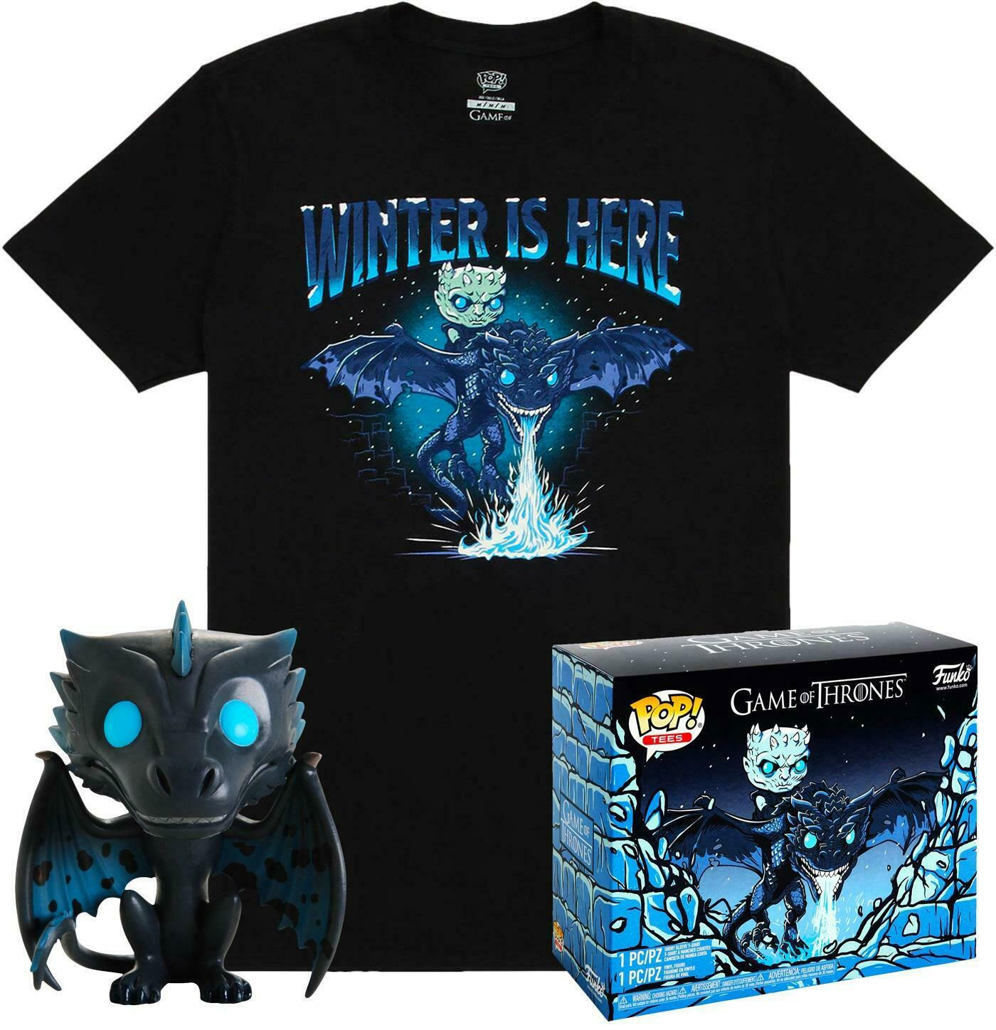 Game of Thrones POP! & Tee set figurine et T-Shirt Icy Viserion heo Exclusive (L)