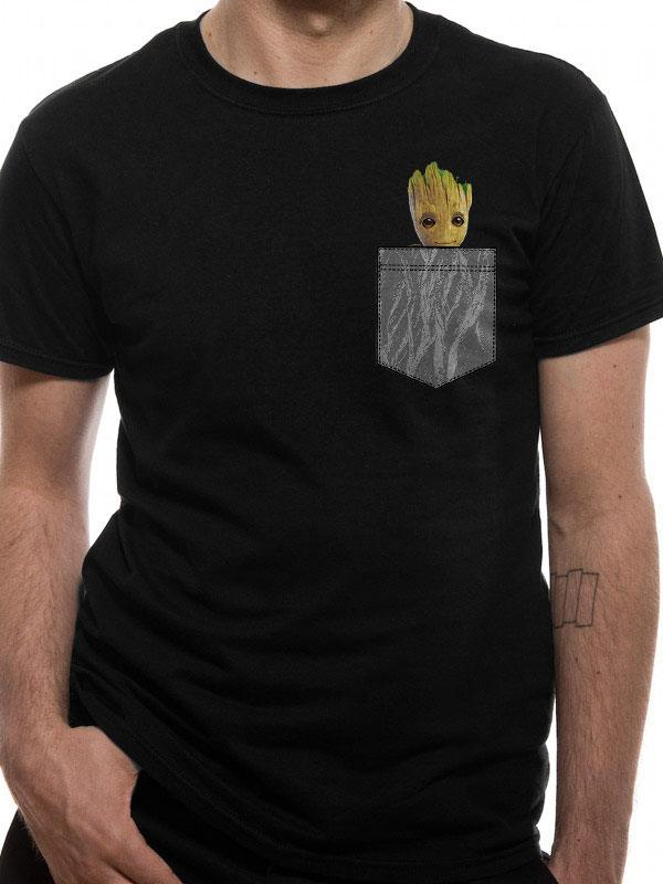 Les Gardiens de la Galaxie 2 T-Shirt Cosy Groot Pocket (S)