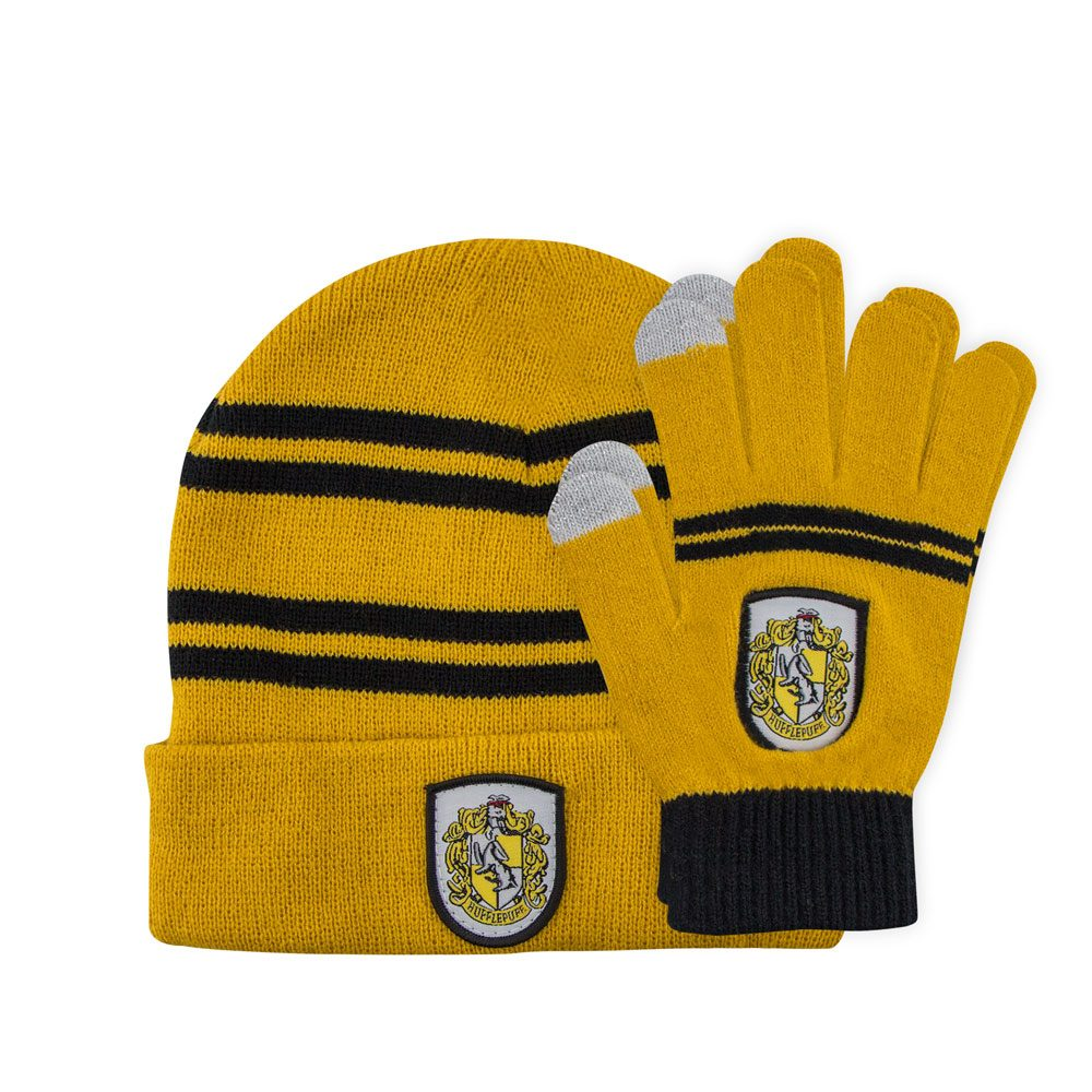 Harry Potter set bonnet & mitaines enfant Hufflepuff