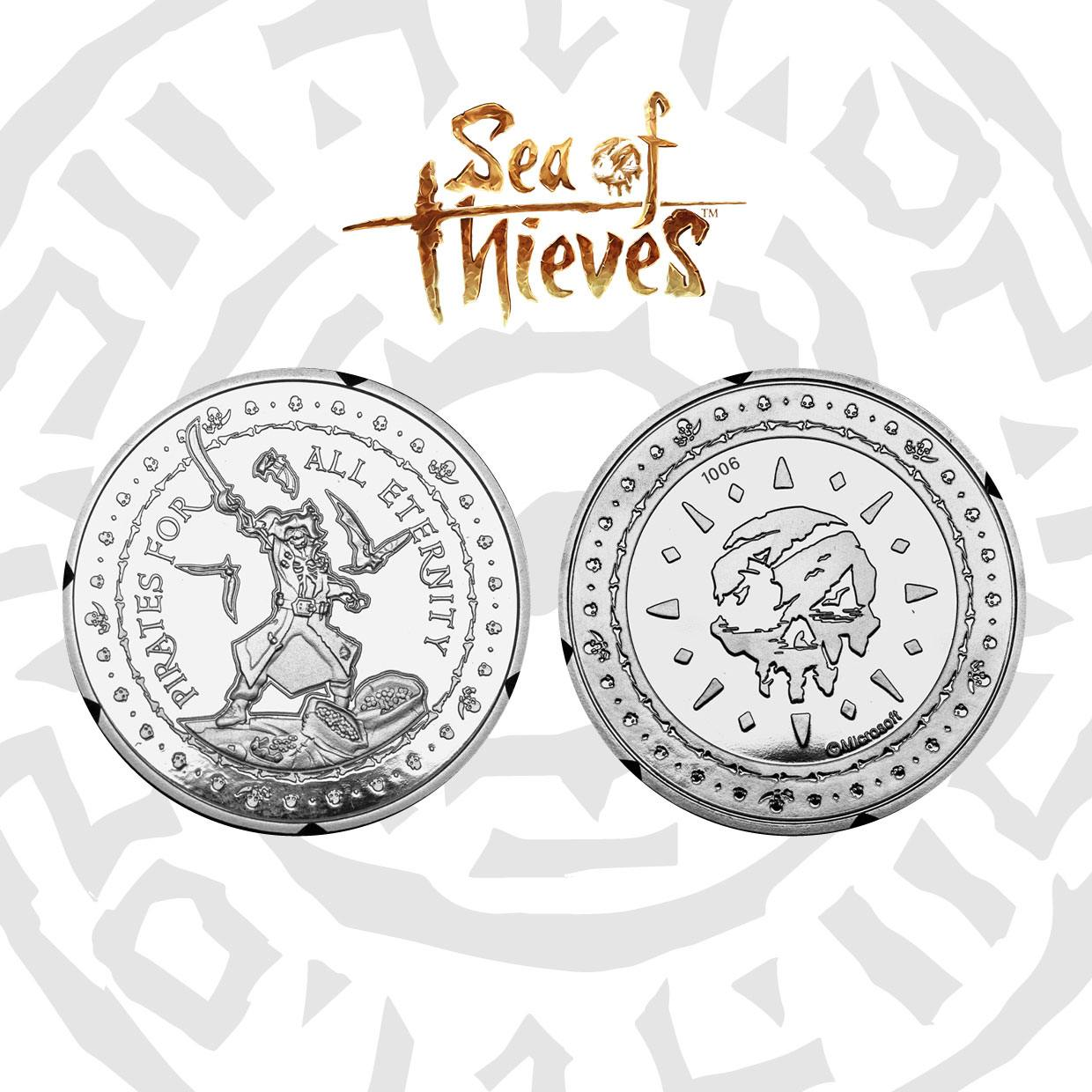 Sea of Thieves pièce de collection Pirates For All Eternity Silver Edition