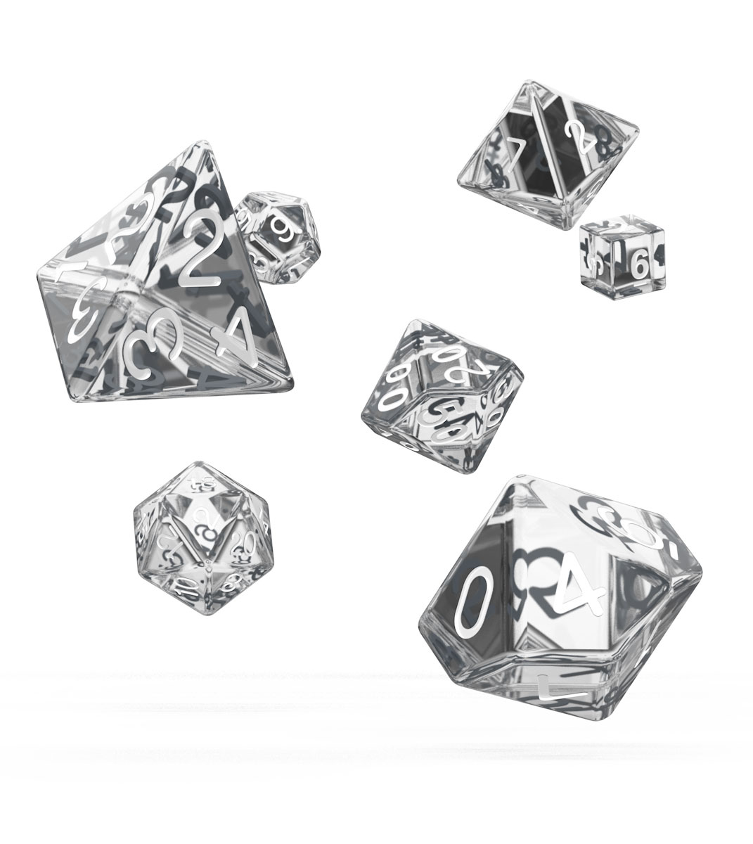 Oakie Doakie Dice dés RPG-Set Translucent - Transparent (7)