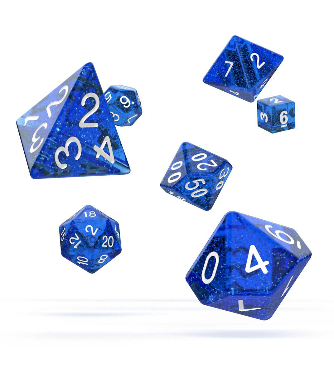 Oakie Doakie Dice dés RPG-Set Speckled - Bleu (7)