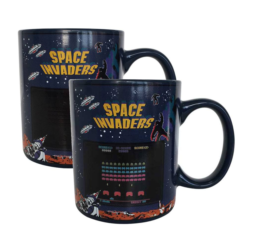 Space Invaders mug effet thermique