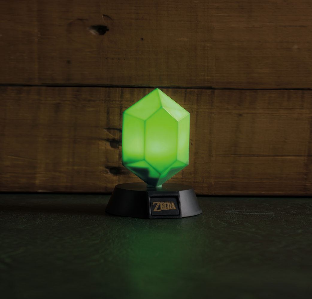 Legend of Zelda veilleuse 3D Green Rupee 10 cm