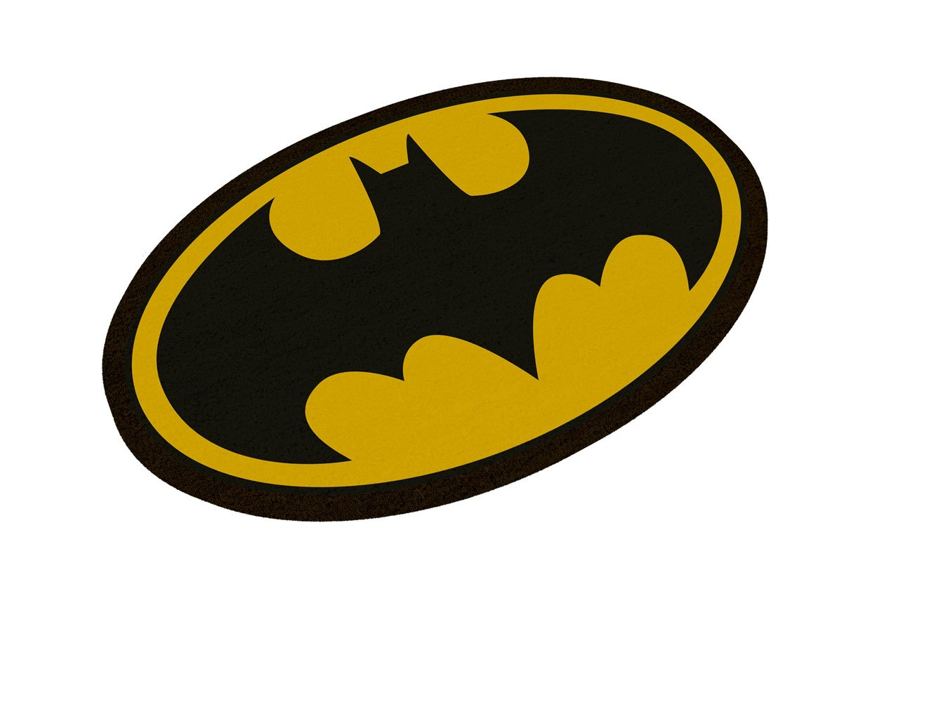 DC Comics paillasson Batman Logo Oval-Shaped 43 x 72 cm