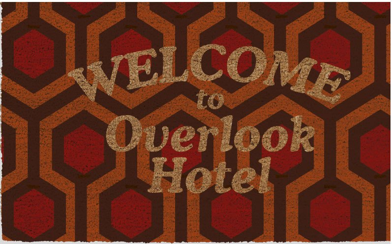 The Shining paillasson Welcome To Overlook Hotel 43 x 73 cm