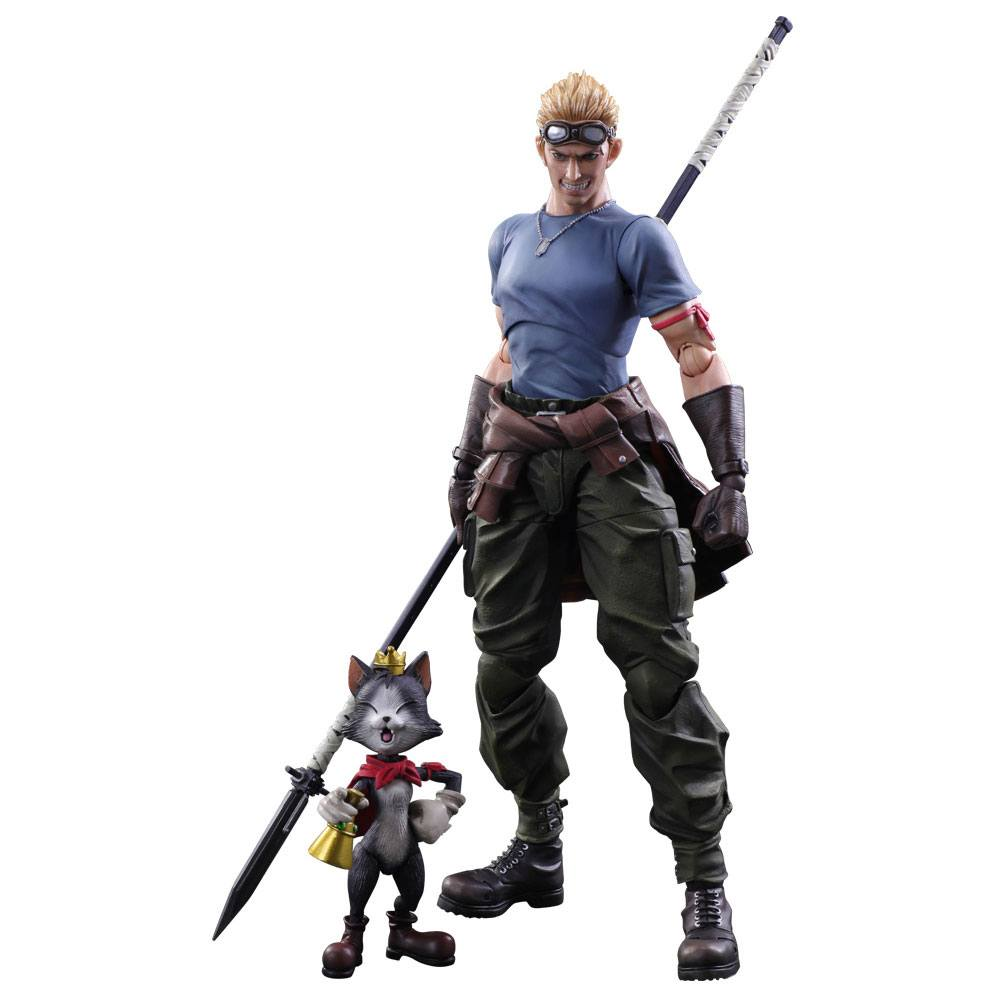 Final Fantasy VII Advent Children Play Arts Kai figurines Cid Highwind & Cait Sith 9 - 27 cm