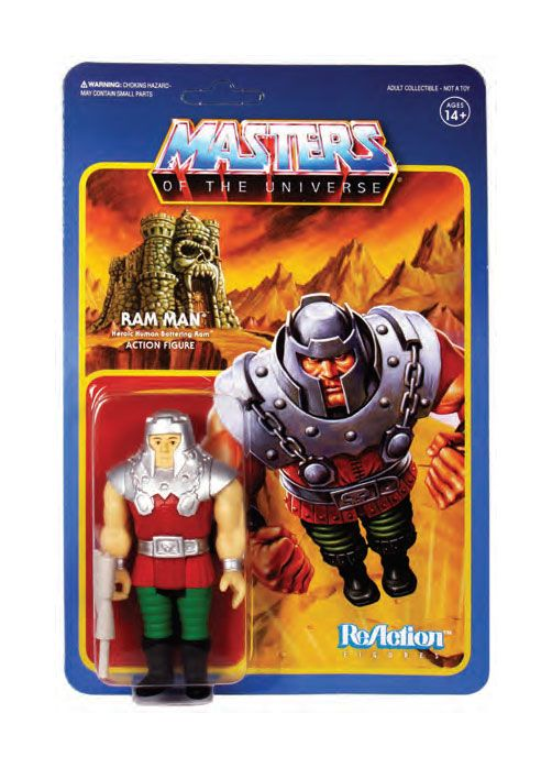 Masters of the Universe Wave 4 figurine ReAction Ram Man 10 cm