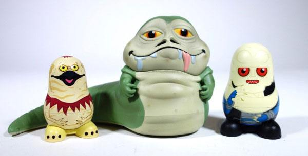 Star Wars pack 3 figurines Chubby Jabba's Palace 9 cm