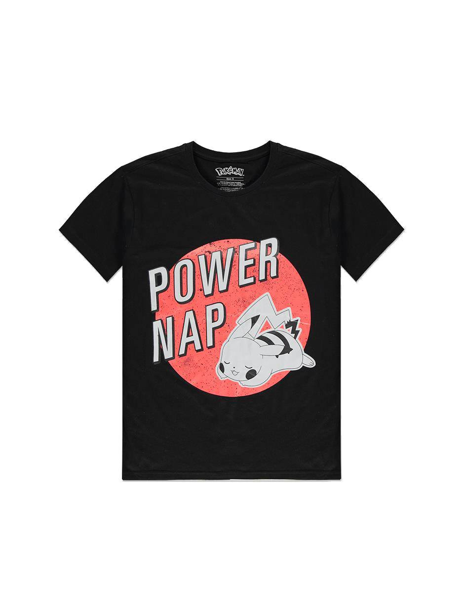 Pokémon T-Shirt Pikachu Power Nap (S)