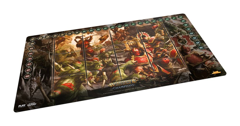 Warhammer Age of Sigmar: Champions Play-Mat Chaos vs. Destruction 64 x 35 cm
