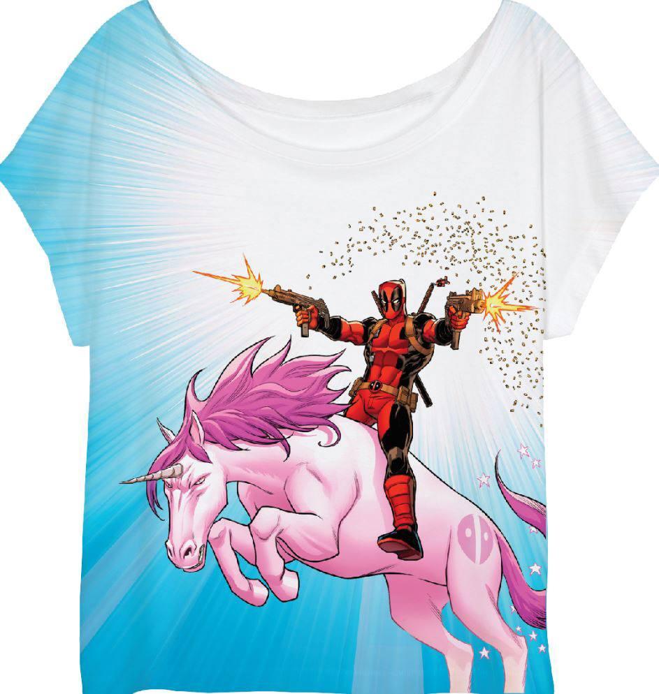 Deadpool T femme Unicorn Shirt XL qaqg1p