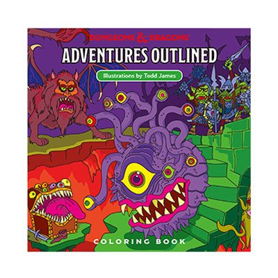 Dungeons & Dragons Adventures Outlined livre de coloriage