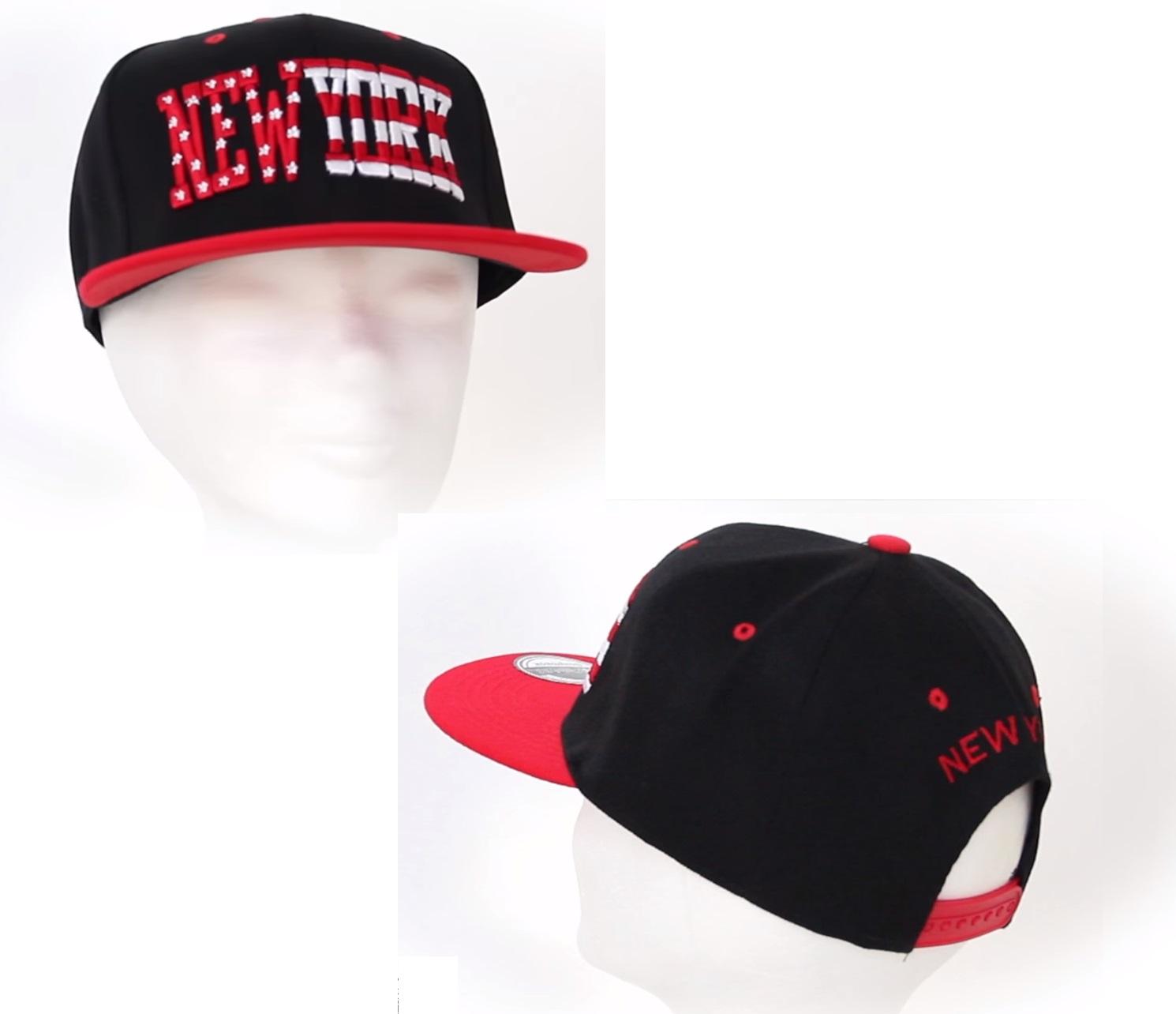 new york casquette noir et rouge. Black Bedroom Furniture Sets. Home Design Ideas