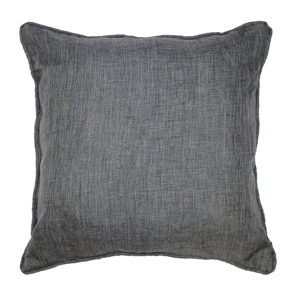 coussin passepoil 60 x 60 cm chambray uni newton anthracite. Black Bedroom Furniture Sets. Home Design Ideas