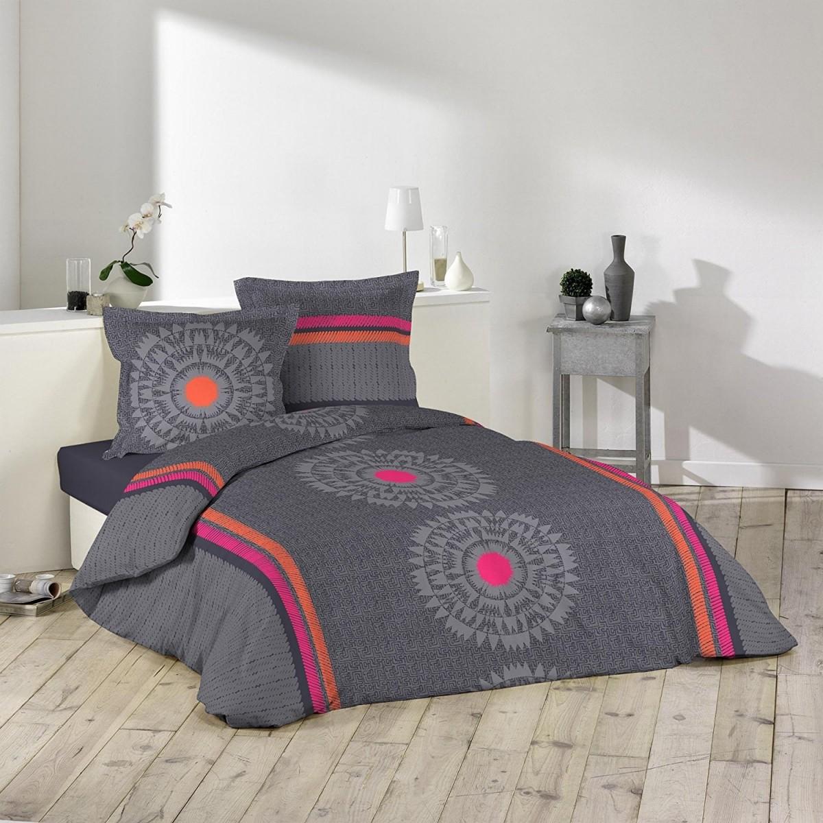 parure housse de couette 240 x 220 cm modele bohemian. Black Bedroom Furniture Sets. Home Design Ideas