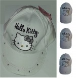 HELLO KITTY Casquette blanche à strass