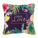 Coussin déhoussable Collection Tropical Love