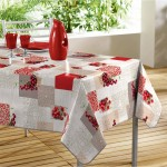 Nappe rectangle PVC Modele Cerise Bigarreau