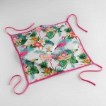 Coussin Galette de chaise Collection Flamant Rose