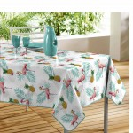 Nappe rectangle PVC Modele Lady Flamant Rose