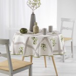 Nappe ronde Collection Provence Oliviades