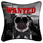 Housse de coussin Modele Dog Wanted Real Gangster