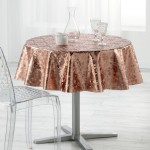 Nappe ronde PVC imprime Metalisse Collection Luny