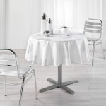 Nappe ronde polyester imprime Collection argent platine