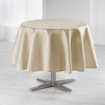 Nappe ronde polyester Collection Jacquard Damasse Serpentile