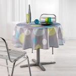 Nappe polyester imprime Collection Atolls 180 cm
