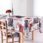 Nappe rectangle polyester Modele Noel Norvegia 150 x 240 cm