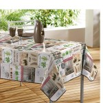 Nappe rectangle PVC marche fermier 140 x 240 cm