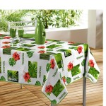 Nappe rectangle PVC Salvador blanc 140 x 240 cm