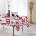 Nappe en polyester rectangle Patch Cocotte 150 x 200 cm