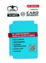 ULTIMATE GUARD 10 intercalaires pour cartes Card Dividers taille standard Aigue-marine