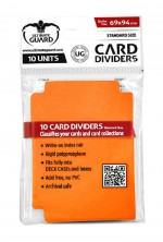 ULTIMATE GUARD 10 intercalaires pour cartes Card Dividers taille standard Orange