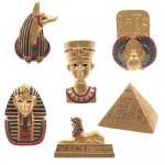 1001KDO EGYPTIEN Lot de 6 Magnets Egyptien