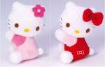 HELLO KITTY  Magnet peluche rose ou rouge 9 cm