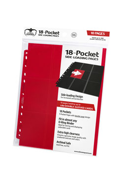 Ultimate Guard 18-Pocket Pages Side-Loading Rouge (10)