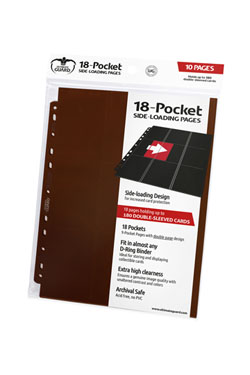 Ultimate Guard 18-Pocket Pages Side-Loading Marron (10)