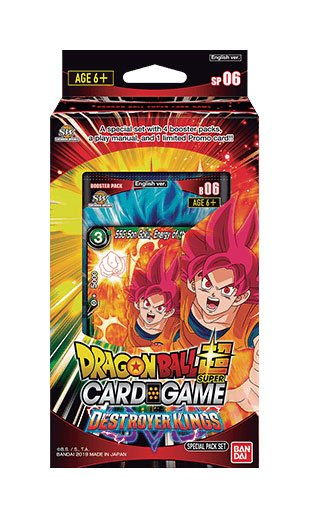 Dragonball Super Card Game Season 6 special pack Destroyer Kings *ANGLAIS*