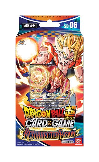 Dragonball Super Card Game Season 5 starter deck Resurrected Fusion *ANGLAIS*